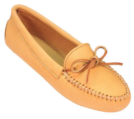 Minnetonka Leather Moccasins - Double DeerskinSoftsole