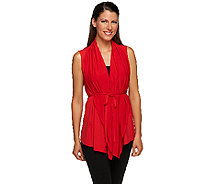 Joan Rivers 4-in-1 Knit Vest with Removable Belt - A251576