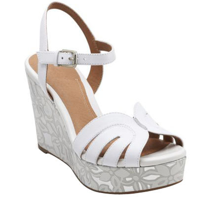 c0ff5d8bee04 Clarks Artisan Floral Print Wedge Sandals - Amelia Page - Page 1 ...