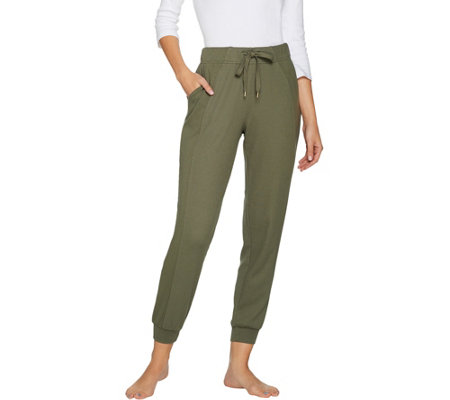 74d0a342a73 AnyBody Loungewear Cozy Knit Waffle Jogger Pants - Page 1 — QVC.com