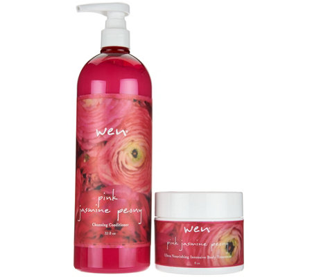 WEN by Chaz Dean Pink Jasmine Peony Hair and Body Duo