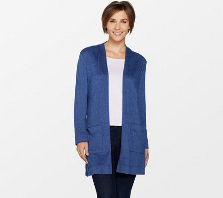 Susan Graver Weekend Brushed Knit Cardigan