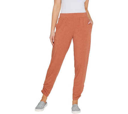 LOGO Lounge by Lori Goldstein Jersey Pull-On Ankle Pants