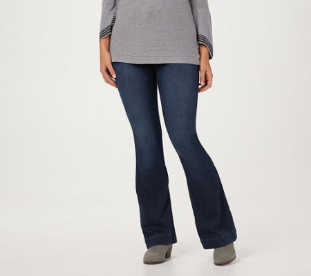 Laurie Felt Tall Silky Denim Flare Pull-On Jeans