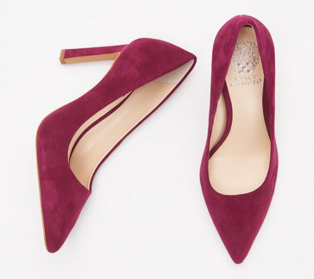 999f495ea Vince Camuto Leather Pointed Toe Pumps - Sariela - Page 1 — QVC.com