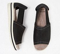 2c40ef000e8 Earth Origins Leather Slip-On Sandals - Carley Connie - A347676