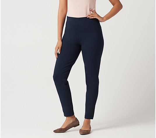 Susan Graver Petite Weekend Premium Stretch Slim-Leg Pants