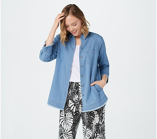 Belle by Kim Gravel Denim Shirt with Pockets