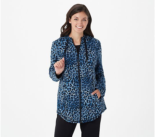 Susan Graver Weekend Printed French Terry Jacket with Hood