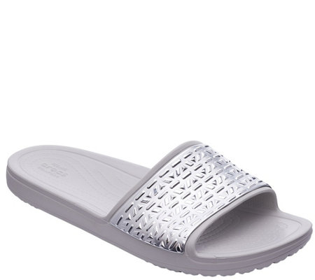 Crocs Slide Sandals - Sloane Graphic Etched Slide