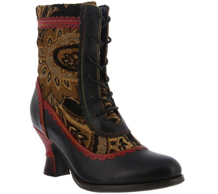 L'Artiste by Spring Step Leather and Textile Boots - Bewitch