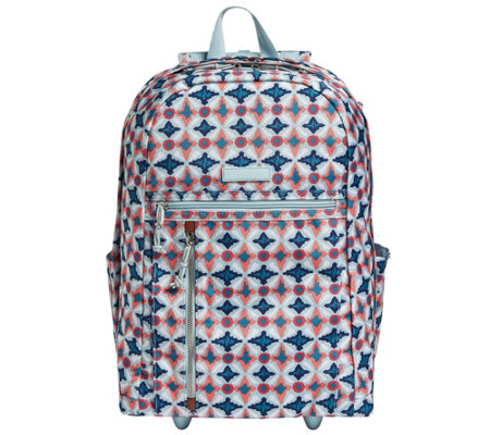 Vera Bradley Lighten Up Large Rolling Backpack - Page 1 — QVC.com 310ffd8720