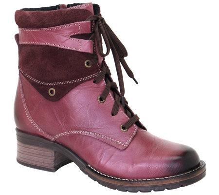 da733b09bbe2ec Dromedaris Leather Lace-Up Ankle Boots - Kara - Page 1 — QVC.com
