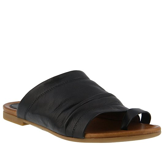 Spring Step Leather Slide Sandals - Ishtar