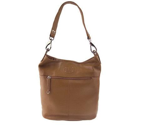 Stone Mountain Pebble Leather Slouch Bucket Bag