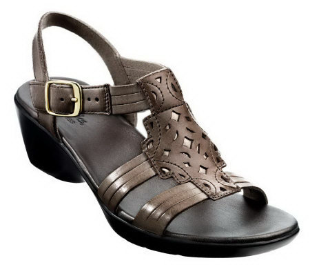 5d6e7ca200f Clarks Bendables Ella Chamber Leather Sandals - Page 1 — QVC.com