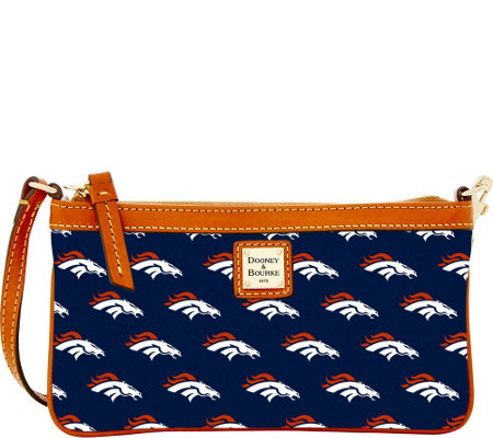 Dooney & Bourke NFL Broncos Large Slim Wristlet