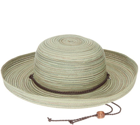 San Diego Hat Co. Mixed Braid Kettle Brim Sun Hat