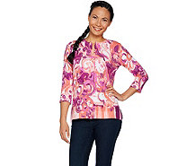 Isaac Mizrahi Live! Engineered Paisley Printed Cardigan - A292077