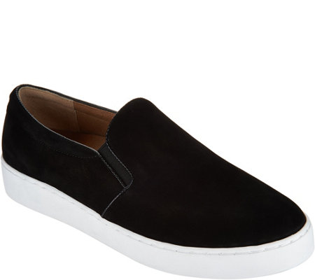 Vionic Orthotic Leather or Suede Slip-On Shoes - Midi