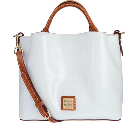 Dooney & Bourke Patent Leather Small Brenna Satchel Handbag