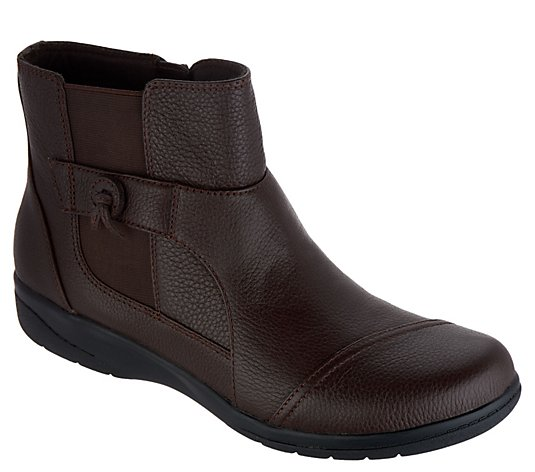 Clarks Collection Tumbled Leather Ankle Boots - Cheyn Work