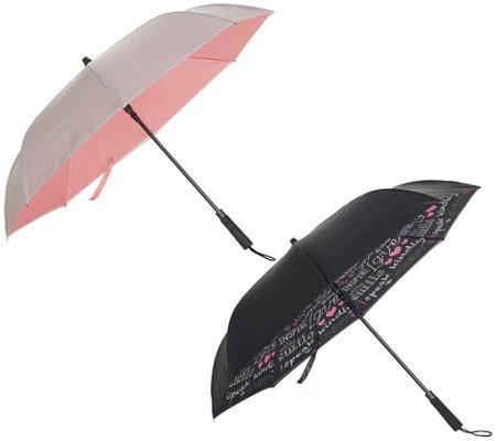 95c0203b543f Revers-A-Brella Set of 2 Inverted Automatic Open Umbrellas — QVC.com