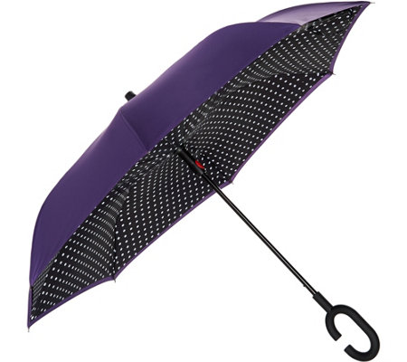 """As Is"" Revers- A-Brella Double Layer Inverted Automatic Open NoDrip Umbrella"