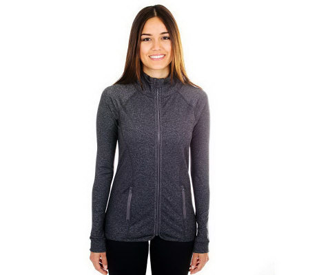 90 Degree by Reflex Zip Font Active Jacket withPockets
