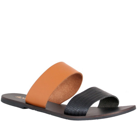 Nomad Leather Slide Sandals Noosa
