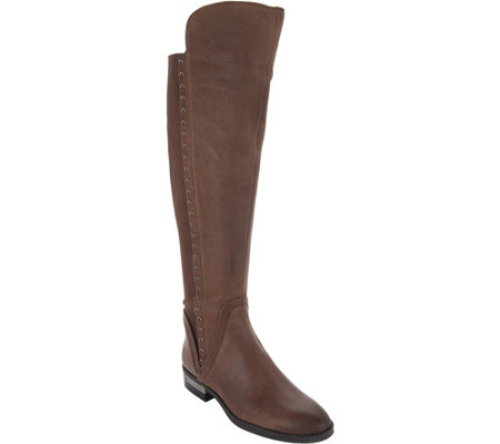 Vince Camuto Medium Calf Tall Shaft Leather Boots - Pardonal
