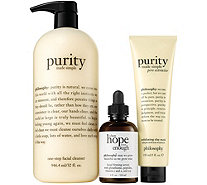 philosophy get your glow on 3-piece super-size skin kit - A347377
