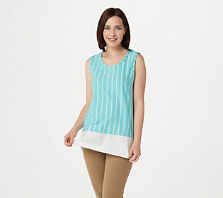 T-Party Aqua Blue Ribbed Striped Tank Top New Fitness Workout