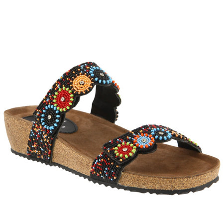 Azura by Spring Step Slide Sandals - Bahama