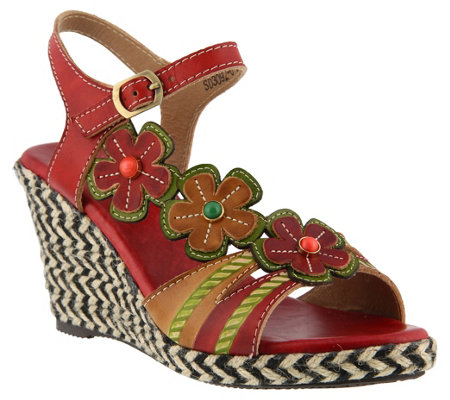 L'Artiste by Spring Step Leather Sandals -Rhianna