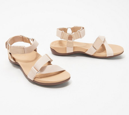 Vionic Adjustable Leather Sandals Candace