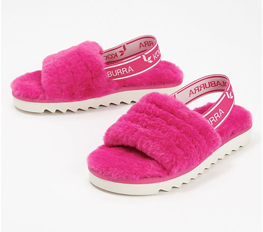 Koolaburra by UGG Kid's Backstrap Slide Sandals - Fuzz'n
