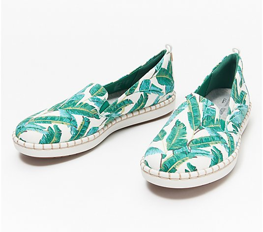 """As Is"" CLOUDSTEPPERS by Clarks Slip-On Shoes- Step Glow Jade"