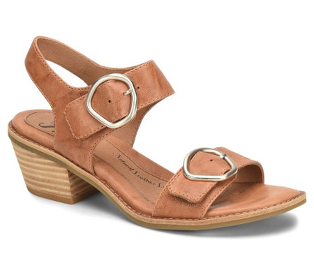 Sofft Leather Buckle Hardware Sandals - Sedrina