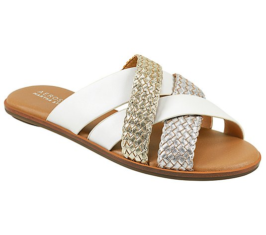 Aerosoles x Martha Stewart Slip-On Leather Sandals - Sandra