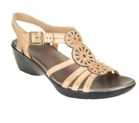 da73b4d0e53 Clarks Bendables Ella Ballet Leather Sandals - Page 1 — QVC.com