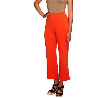 Liz Claiborne New York Regular Ponte Knit Crop Pants