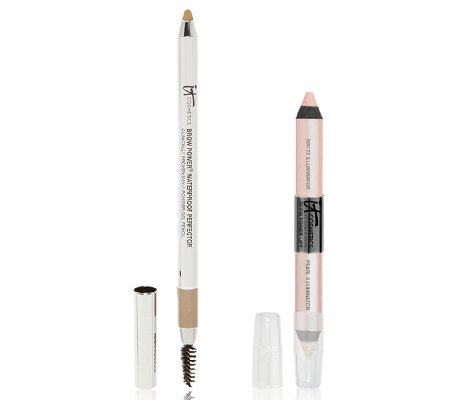 IT Cosmetics Brow Perfector Auto 5-in-1 Gel & Brow Lift Pencil Duo
