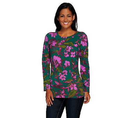 Liz Claiborne New York Long Sleeve Printed Knit Top