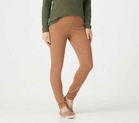 "Denim & Co. ""How Timeless"" Petite 4-Pocket Denim Jeggings"