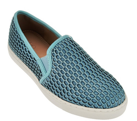 LOGO by Lori Goldstein Slip-On Mesh Sneakers with Double Goring