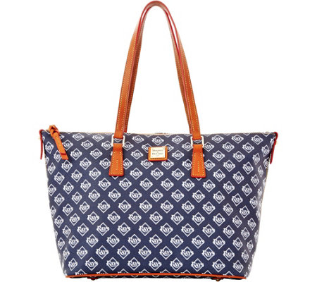 Dooney & Bourke MLB Rays Zip Top Shopper