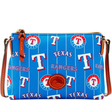 Dooney & Bourke MLB Nylon Rangers Crossbody Pouchette
