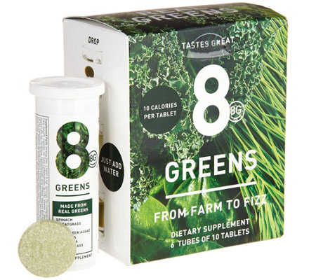 8Greens Effervescent Drink Tablets 60 Count