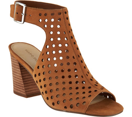 Marc Fisher Perforated Suede Booties - Berdie